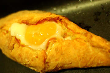 Khachapuri with raw egg №46575