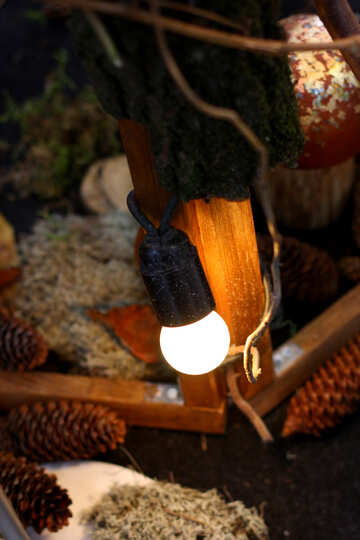 The old incandescent light bulbs in the decor №46935