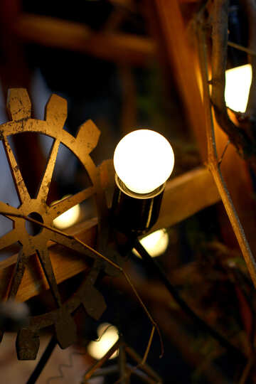 Steampunk style decor old incandescent bulbs