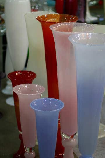 Multi-colored glass vase №46916