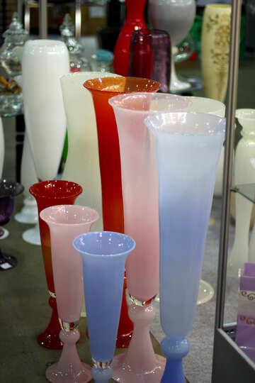 Multi-colored glass vase №46917