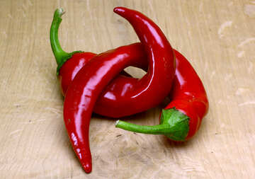 Hot pepper on the table