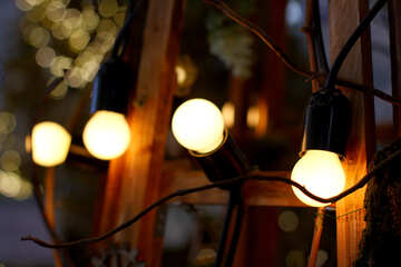 Garland of the old incandescent light bulbs №46948