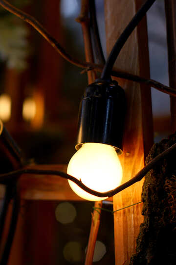 Old incandescent lamp №46947