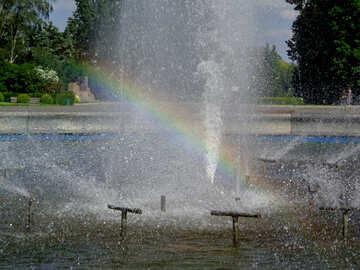 Fuente con el arco iris №46870
