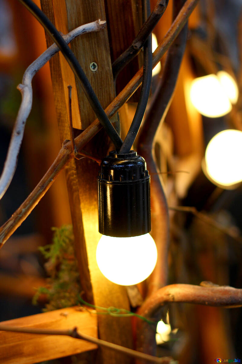 The old incandescent light bulbs in the decor №46927