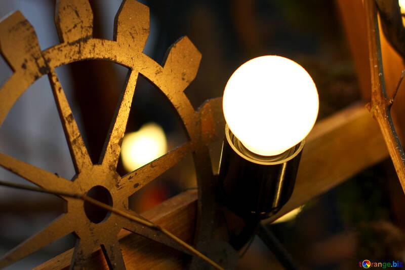 Decoración de estilo steampunk viejas bombillas incandescentes №46930