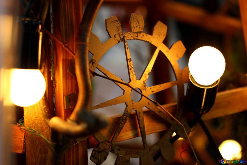 Decoración de estilo steampunk viejas bombillas incandescentes №46933