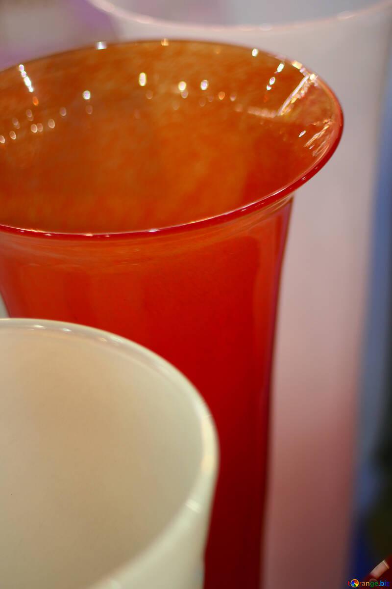 Multi-colored glass vase №46919