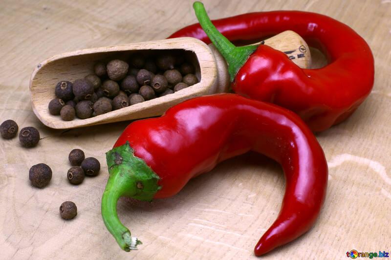 pimienta negro y rojo de los chiles №46626