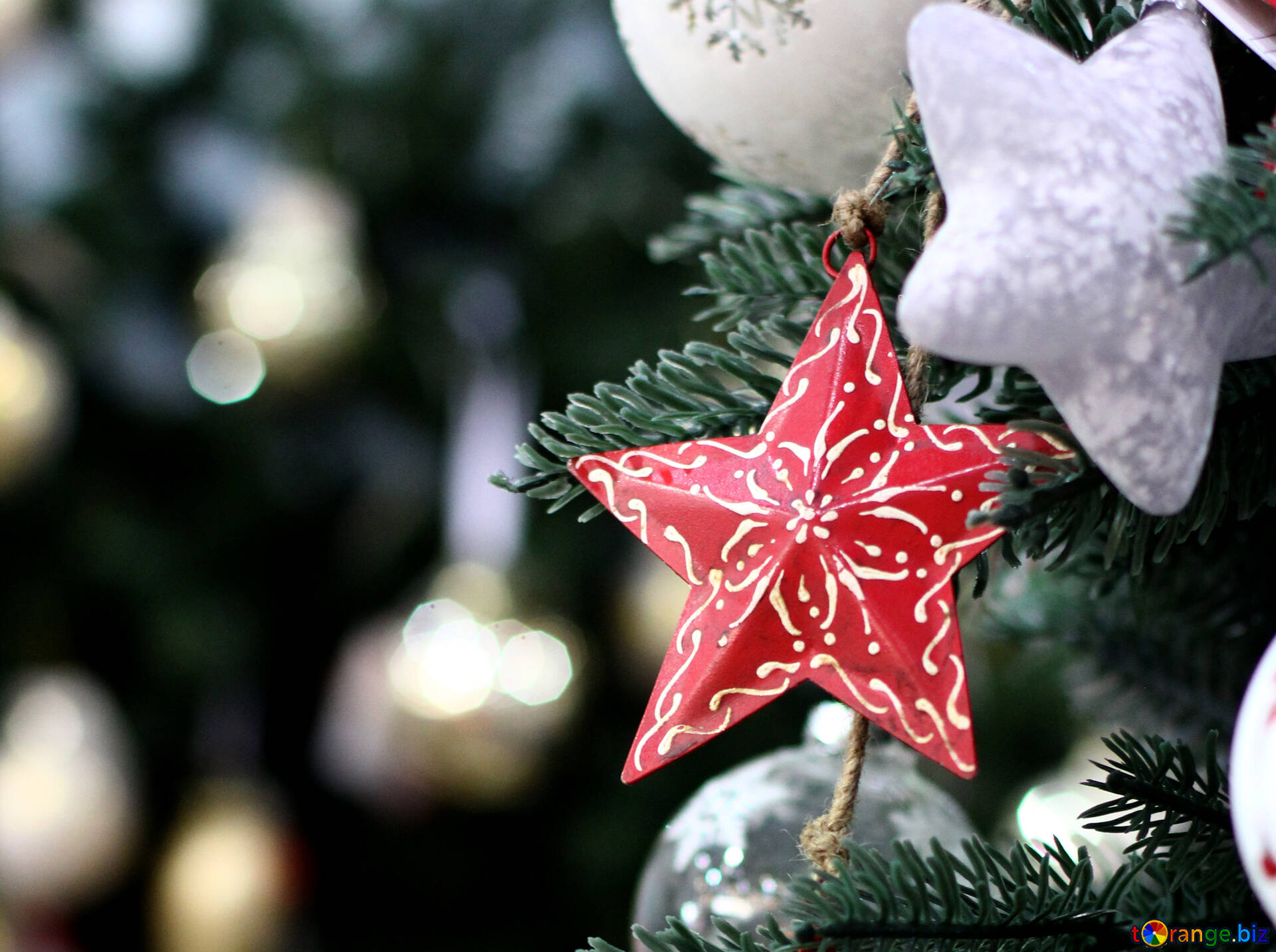 Designer Christmas Decor Background With A Beautiful Christmas Star