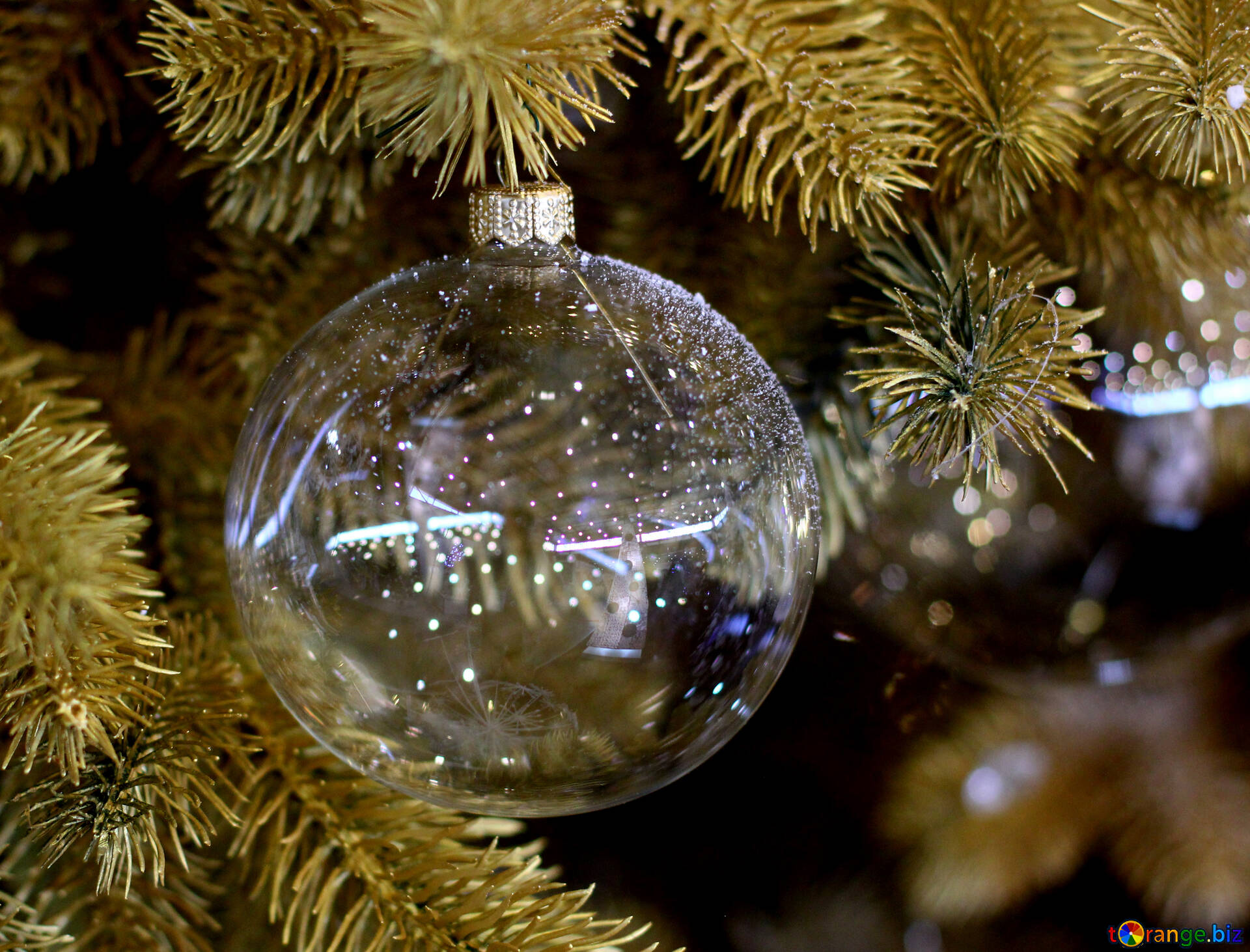 Glass transparent christmas balls glass beads and a garland of