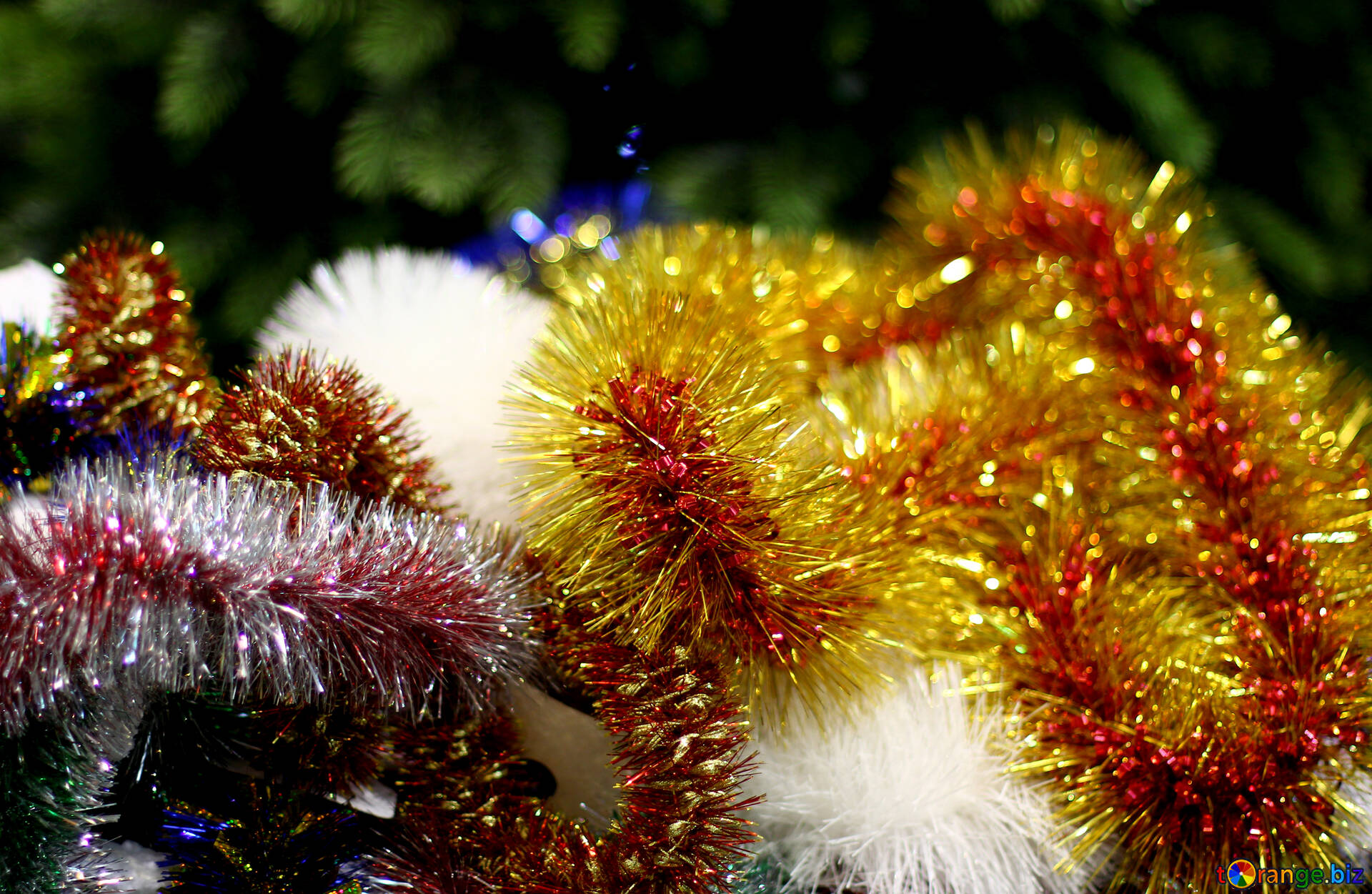 download free image colored background christmas garland in hd wallpaper size 1920px