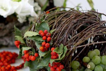 Autumn composition with rowan №47034