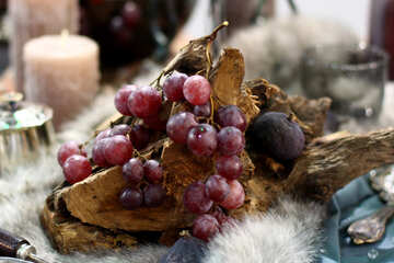 Autumn Still Life with Grapes №47185