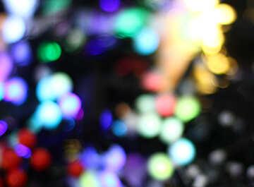 Размытый рождественский фон цветные огни гирлянд №47901