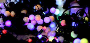 Blurred christmas background background colored lights garlands №47903