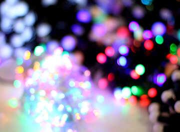 Размытый новогодний фон цветные огни гирлянд №47910