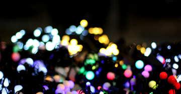 Размытый новогодний фон цветные огни гирлянд №47917