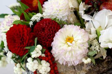 Autumn flowers composition №47036