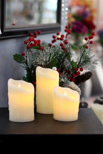 Christmas Decoration Interior candles №47101