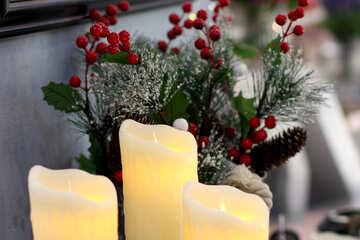 Christmas Decoration Interior candles №47099