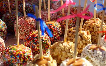 Mehrfarbige Kuchen Süßigkeiten №47555