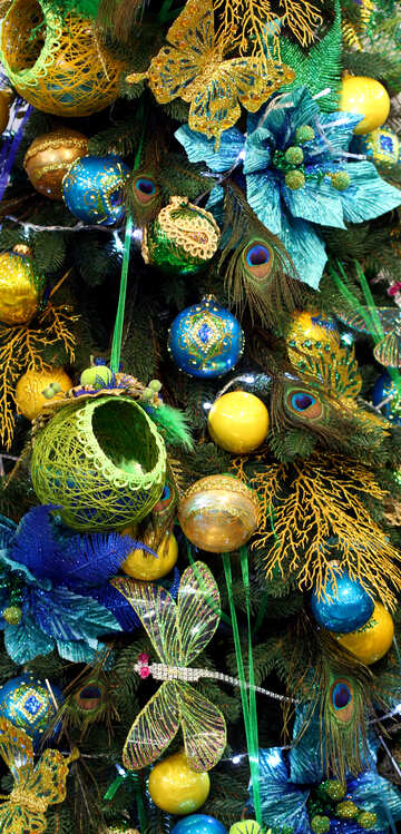 Texture ornaments on a Christmas tree №47647