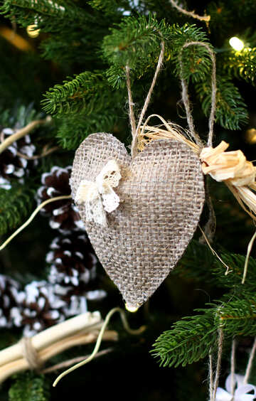 Christmas toy heart №47820