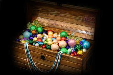 Chest full of Christmas toys №47652