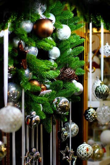 Decorations of Christmas balls №47615