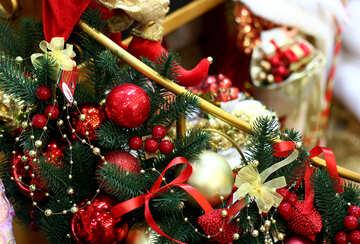 Decorations of Christmas balls №47618