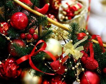 Decorations of Christmas balls №47620