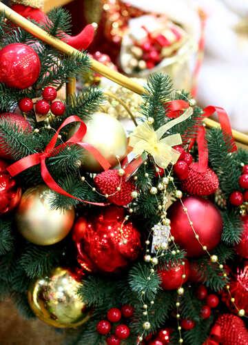 Decorations of Christmas balls №47621
