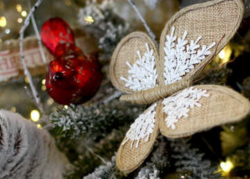 Butterfly on christmas tree №47686