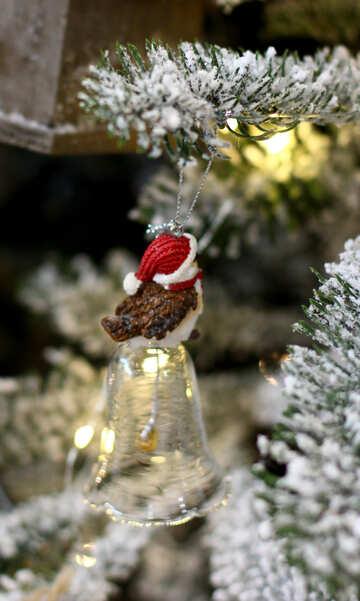 Christmas toys on the Christmas tree glass bell №47689
