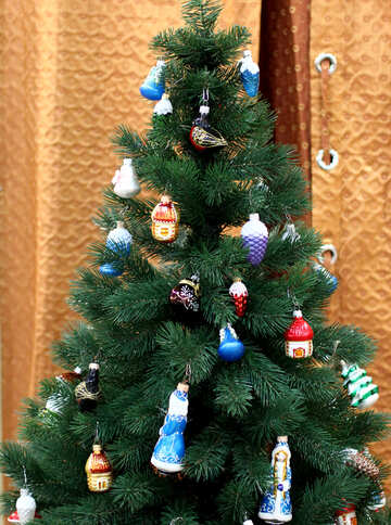 Christmas tree with vintage toys №47650