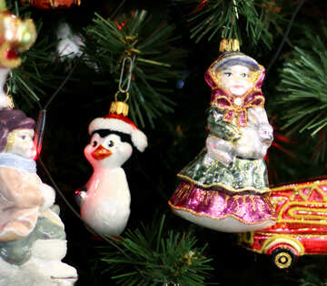 Christmas decorations in retro style №47857