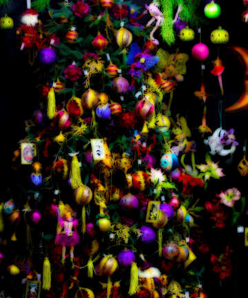 Christmas tree with toys in the store №47868