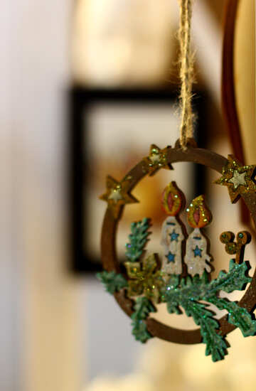 Christmas decoration made of wood №47844