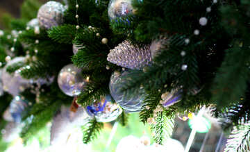 New Year`s interior decoration in the store №47603