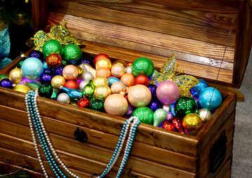 Chest full of Christmas toys №47653
