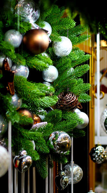 Decorations of Christmas balls №47614