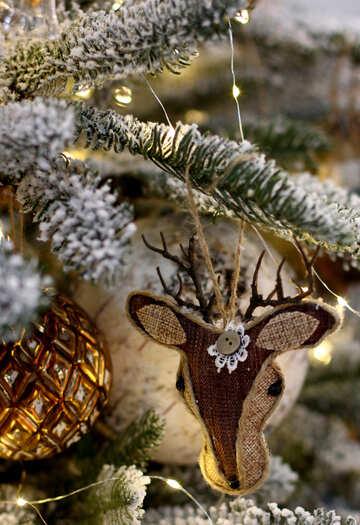 Homemade Christmas decorations deer №47564