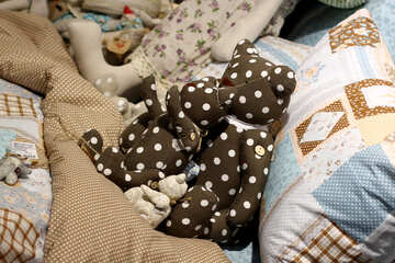 Children`s bed with toys №47116