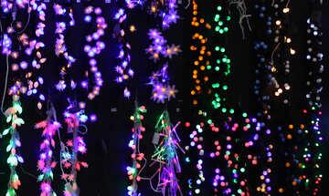 Dunkler Hintergrund Textur Weihnachtsgirlanden №47876