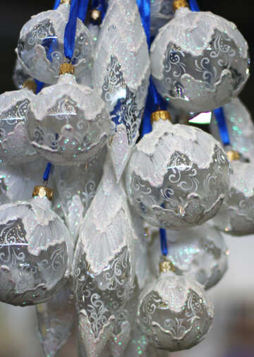 Bunch of glass Christmas balls №47860