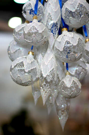 Bunch of glass Christmas balls №47862