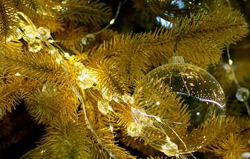 Glass Christmas balls on the Christmas tree №47708