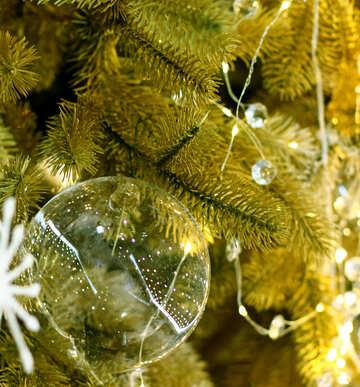 Glass Christmas balls on the Christmas tree №47709